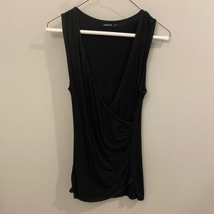 Patty Boutik Low Cut Cross Front Fitted Tank Top